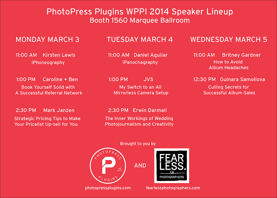 WPPI Photo Press Plugins Fearless Photographers